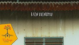 Rain window 4K footage