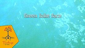 Green lake face 4K footage