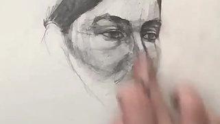 Time lapse portrait sketch