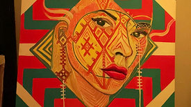 "Interactive tribal expressionist portrait ""North"""