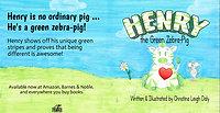 Henry the Green Zebra Pig Trailer
