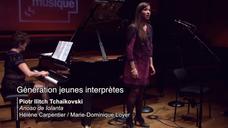 Tchaïkovski   Arioso de Iolanta par Hélène Carpentier et Marie-Dominique Loyer