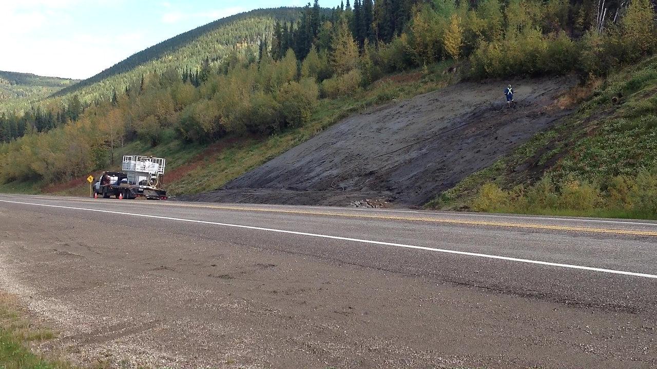 Hydroseed Video Alaska Highway 2020