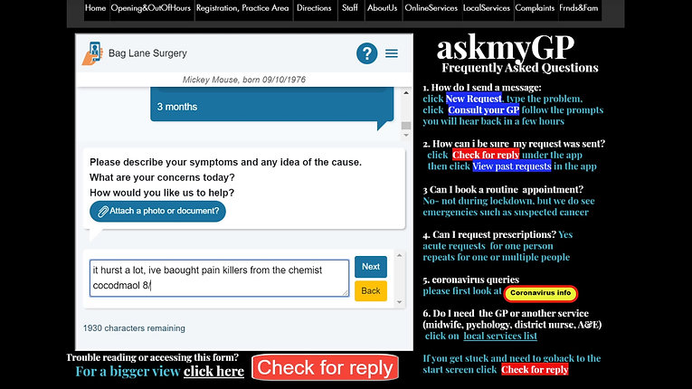 DrVasanth:how to use ask my GP