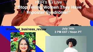 Harvard Business Review Instagram Live