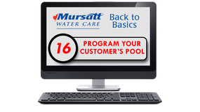 Part 16 Program your customers pool
