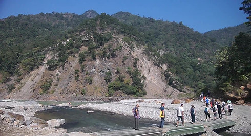 Walking Meditation by the Ganga