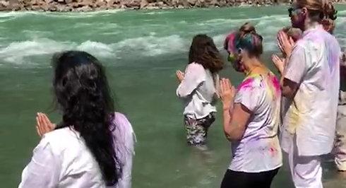 After Holi a Ganga bathing