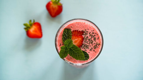 Mixed Berry Energy Smoothie with Chia Seeds