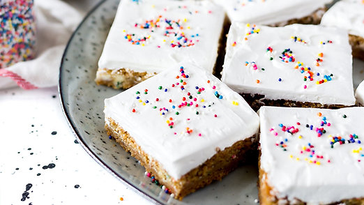 Rice Crispy Vanilla Marshmallow Squares