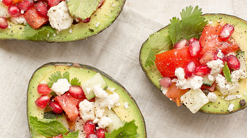 Easy Avocado Boats Filled with Fruit and Cheese