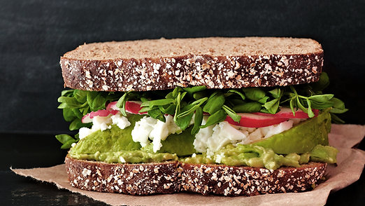 Green Zucchini Rye Sandwich