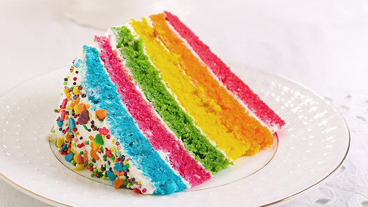 Rainbow Sprinkled Layer Cake
