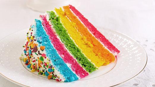 Rainbow Sprinkled Layer Cake