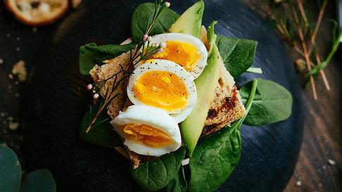 The Magic Trio - Spinach Avocado Egg Toast