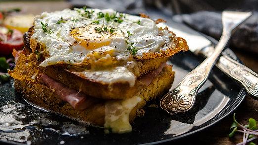 Yellow Melt Egg Sandwich