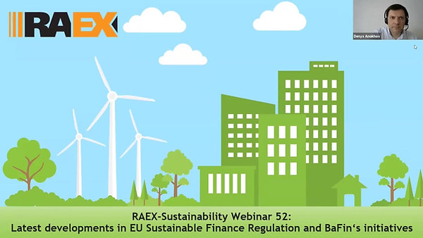 Latest developments in EU Sustainable Finance Regulation and BaFin's initiatives
