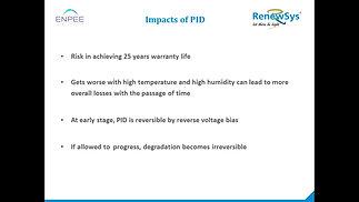 PID in Solar PV Modules