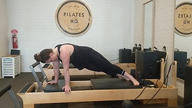 Extender mat - pike to plank - offset pike to plank, offset knee stretch