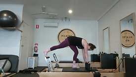 reverse lunge to plank cluster