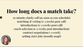 How does the matching process work?