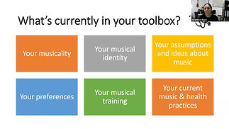 Tuning In – Using Music to promote health, wellness and care