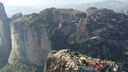 Greece. Meteora. Aerial shot.