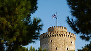 White tower on embankment of Thessaloniki