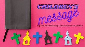 Children's message - The Baptism of Jesus