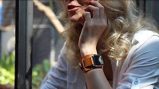 Leather Wrist Cuff Watch Band