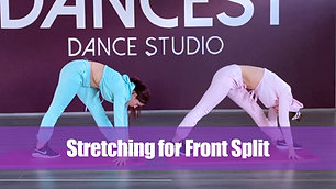 Stretching for Front Split