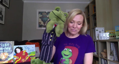 Day 22- K Sound the Story Frog Phonics Online Preschool Classes with Quita