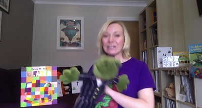 Day 23- E Sound The Story Frog Phonics Online Preschool classes with Quita