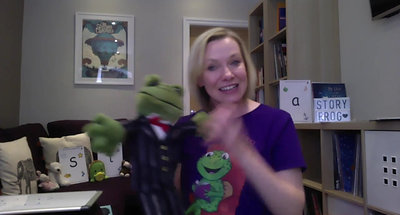 CLASS  7-P Sound The Story Frog Online Preschool with Quita