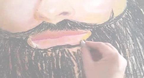 Respect the beard by Eileen A Art