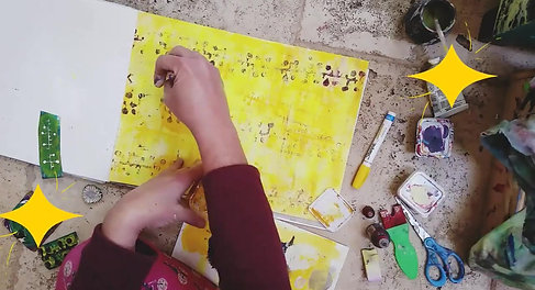 Painting video, Painting with yellow Eileen A Art (1)