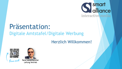 Präsentation Digitale Amtstafel - Digitale Anzeigen
