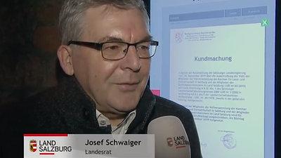 Videoreportage Land Salzburg Touchscreen statt Amtstafel