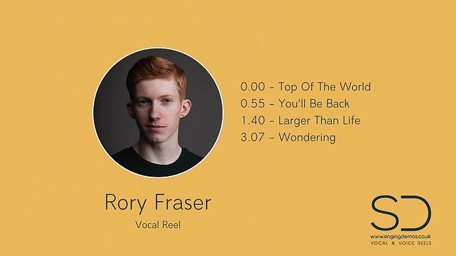 Rory Fraser - Vocal Reel