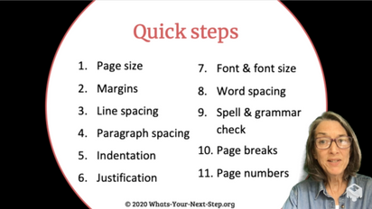 Quick steps to a reader-friendly manuscript - MS Word