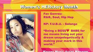 Women's HERstory Month Highlight
