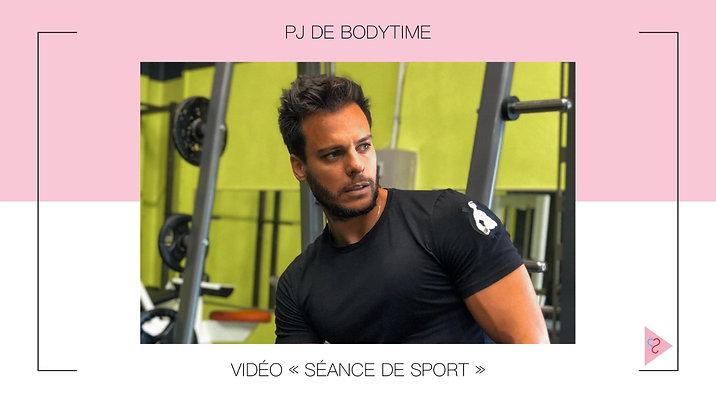 Séance de sport, par PJ de Bodytime