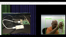 Realtime object detection on a video feed using SSD on a RaspberryPi 3 powered by the Google Coral AI Accelerator dongle