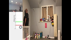 In-home person tracking through a wall