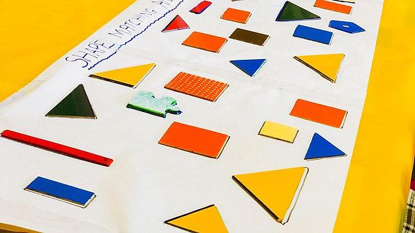 shape matching and size sorting activity