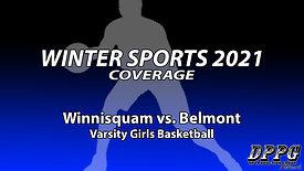 GIRLS BASKETBALL: Winnisquam vs. Belmont (2/5/2021)