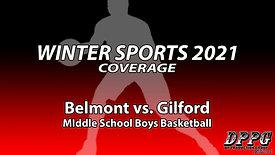 MIDDLE SCHOOL BASKETBALL: Belmont vs. Gilford (Boys A Team - 1/12/2021)