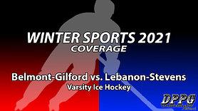 ICE HOCKEY: Belmont-Gilford vs. Lebanon-Stevens (1/28/2021)