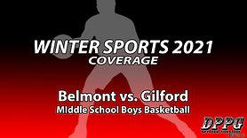 MIDDLE SCHOOL BASKETBALL: Belmont vs. Gilford (Boys B Team - 1/12/2021)