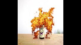 Golden Greek liquid burned